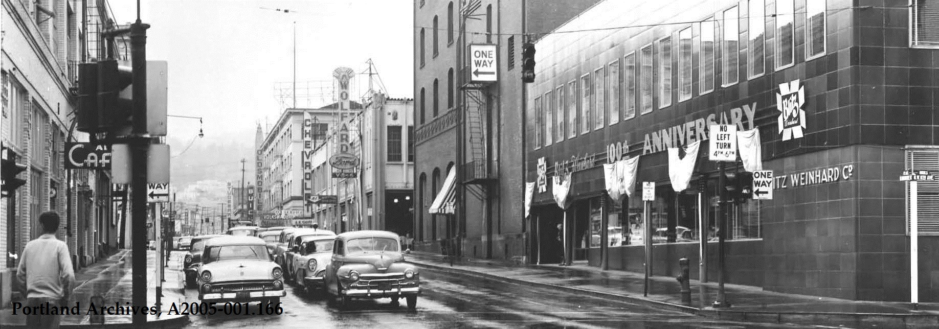 W Burnside Street 1956 Vintage Portland